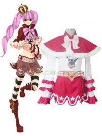 One Piece Peiluona Cosplay Costume White Red