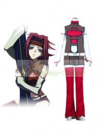 Code Geass Kallen Stadtfeld Cosplay Costume red