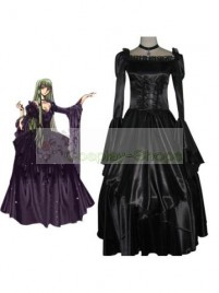 Code Geass C.C. Elegant Robe Cosplay Costume black