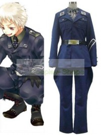 Axis Power Hetalia Prussia Gilbert Beilschmidt Blue Cosplay Costume