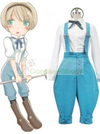 Axis Power Hetalia Ukraine White and Blue Cosplay Costume