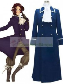 Axis Power Hetalia Austria Dark Blue Cosplay Costume