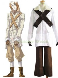Axis Power Hetalia Canada Matthew White and Coffee Cosplay Costume