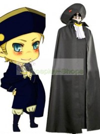 Axis Power Hetalia Holy Roman Empire Black Cosplay Costume