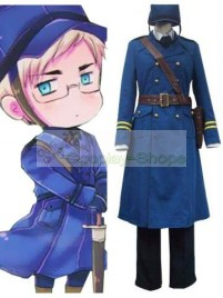 Axis Power Hetalia Sweden Berwald Oxenstierna Blue Cosplay Costume
