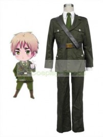 Axis Power Hetalia Britain Army Green Suit Cosplay Costume