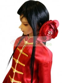 Axis Power Hetalia China Wang Yao Red and Black Cosplay Costume