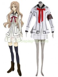 Vampire Knight Women Night Department white Uniform Yuki Cross / Yuki Kuran Cosplay Costume