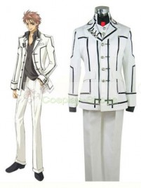 Vampire Knight Men Night Department white Uniform Kaname Kuran Cosplay  Costume