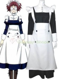 Black Butler Maylene White Black Maid Cosplay Costume