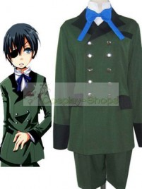 Black Butler Ciel Phantomhive Cosplay Costume Green