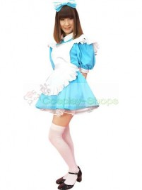 Sweet Sky Blue Traditional Maid Outfit