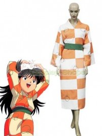 InuYasha Rin Cosplay Costume (Brown White)