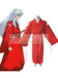 InuYasha Inu-Yasha Cosplay Costume (Red)