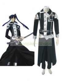 D.Gray Man Kanda Yuu Cosplay Costumes silver black