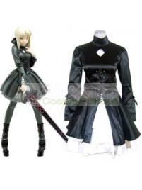 Fate/Stay Night Saber Alter / Dark Saber Casual Black Dress Cosplay Costume