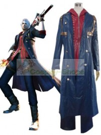 Devil May Cry DMC 4 Nero Cosplay Costume Light Blue