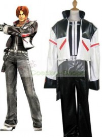 The King of Fighters(KOF) 03 Kyo Kusanagi White and Black Cosplay Costume