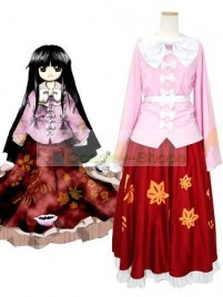 Touhou Project Imperishable Night Houraisan Kaguya Red Cosplay Costume