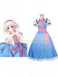 Touhou Project Phantasmagoria of Dim.Dream Alice Margatroid Sky Blue Cosplay Costume