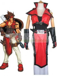 Guilty Gear Sol Badguy Cosplay Costume Red and White
