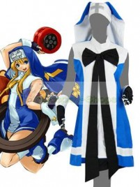 Guilty Gear Bridget Cosplay Costume Blue