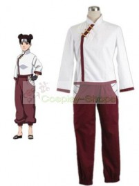 Naruto Shippuden Tenten White and Red Cosplay Costume