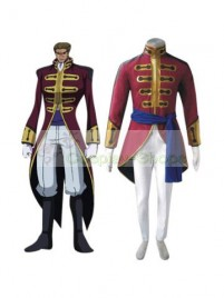 Code Geass Britannia Cosplay Costume Wine Red