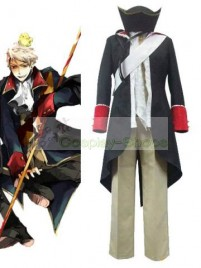 Axis Power Hetalia Prussia Black Cosplay Costume
