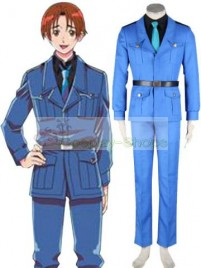 Axis Power Hetalia North Italy Blue Cosplay Costume