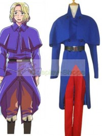 Axis Power Hetalia Francis Bonnefoy Blue and Red Cosplay Costume