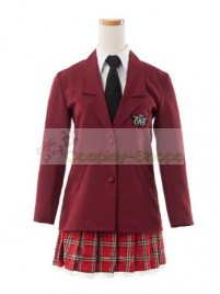 Axis Power Hetalia School Uniform Red Cosplay Costume