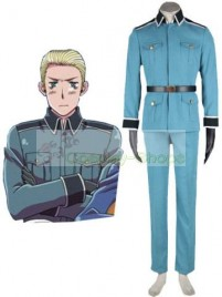 Axis Power Hetalia Germany Mens Blue Cosplay Costume