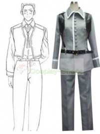 Axis Power Hetalia Germany Grey Cosplay Costume