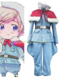 Axis Power Hetalia Tino Vainaminen Light Blue Cosplay Costume