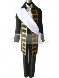 Axis Power Hetalia Spain Black Cosplay Costume