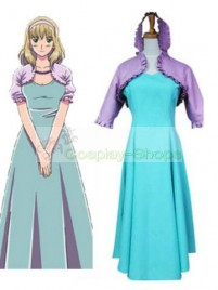 Axis Power Hetalia Belgium Purple and Green Cosplay Costume