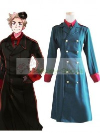 Axis Power Hetalia Denmark Dark Blue Cosplay Costume