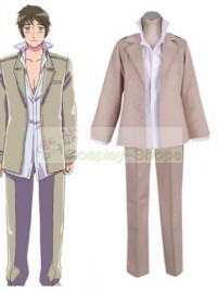 Axis Power Hetalia Greece Grey Cosplay Costume