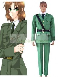 Axis Power Hetalia Lithuania Light Green Cosplay Costume