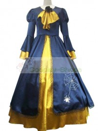 Vocaloid  Kagamine Rin Blue And Yellow Dress Cosplay Costume