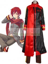 Vocaloid -  Akaito Cosplay Costume Black and Red