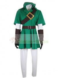 Zelda Link 1st Edition  Green and Black Cosplay Costume From The Legend of Zelda