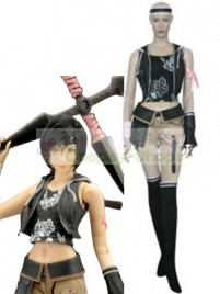 Final Fantasy VII Yuffie Kisaragi Cosplay Costume Black and Champagne