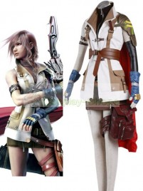 Final Fantasy XIII Lightning Guardian Corps Uniform Cosplay Costume