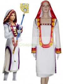 Final Fantasy XII Yuna White Mage Cosplay Costume