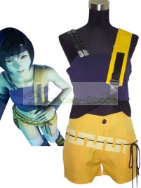 Final Fantasy VII Yuffie Kisaragi Cosplay Costume Blue and Orange