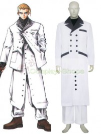 Final Fantasy VII Rufus Shinra Cosplay Costume White and Black