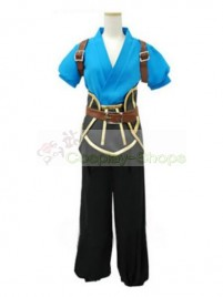 Tales of the Abyss Blue and Black Cosplay Costume