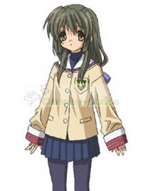 Clannad Nagisa Furukawa Grade 1 Girls Uniform Cosplay Costume